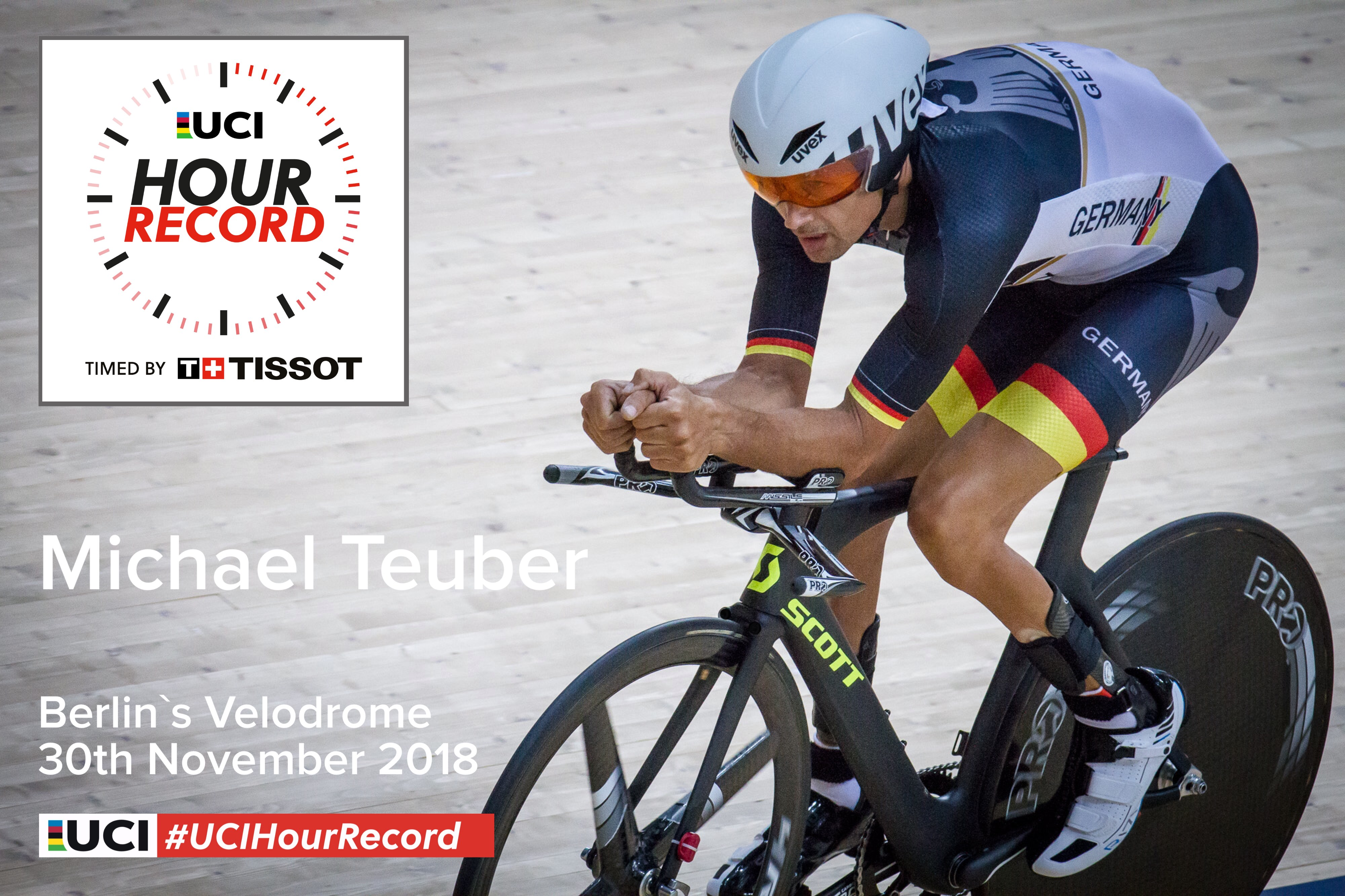 Michael Teuber | UCI Hour Record timed by Tissot - Michael